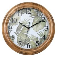 12-Inch Palms Wall Clock in Walnut