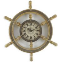 Sterling & Noble™ 18-Inch Wooden Ship's Wheel Wall Clock
