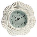 Sterling & Noble Seashell Clock in White