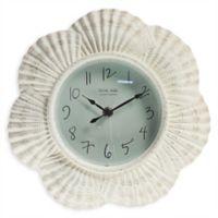 Sterling & Noble Seashell Clock in White