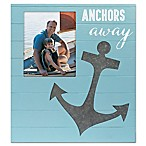 Malden 8-Inch x 10-Inch Anchor's Away Wood Frame in Turquoise