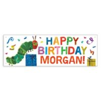 Very Hungry Caterpillar Birthday Banner