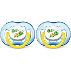 Philips Avent 6-18M 2-Pack Turtle Orthodontic Pacifiers