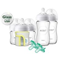 AVENT Natural 5-Pack Glass Wide Neck Bottle Gift Set