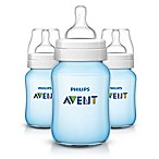 Philips Avent 3-Pack 9 Oz. Anti-Colic Wide Neck Bottles in Blue