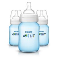 Philips Avent 3-Pack 9 fl. oz. Anti-Colic Wide Neck Bottles in Blue