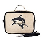 SoYoung Shark Raw Linen Lunch Box in Black