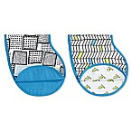 Aden + Anais® Whiz Kid 2-Pack Burpy Bibs in Blue