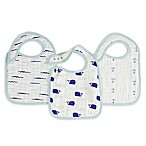 Aden + Anais® High Seas 3-Pack Classic Snap Bibs in Turquoise