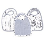 Aden + Anais® Moonlight 3-Pack Silky Soft Snap Bibs in Grey