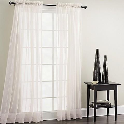 Croscill sheer mist 84 inch window curtain panel in white www
