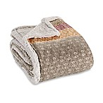Eddie Bauer® Fairisle Collection Sherpa Throw Blanket in Khaki