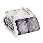 Eddie Bauer® Nordic Plaid Flannel Throw Blanket in Midnight