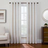 Sharper Image® Bradford 95-Inch Grommet Top Snap-In Window Curtain Panel in Blue