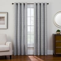 Sharper Image® Bradford 108-Inch Grommet Top Snap-In Window Curtain Panel in Black/White