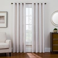 Sharper Image® Bradford 95-Inch Grommet Top Snap-In Window Curtain Panel in Natural
