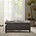 Madison Park Shandra ll Storage Bench in Charcoal