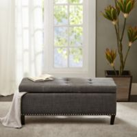 Madison Park Tessa Bench in Charcoal