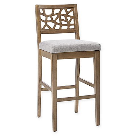 Buy Ink Ivy 174 Crackle Counter Stool In Light Grey From Bed