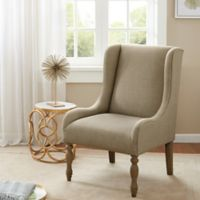 Madison Park Klaus Turned Leg Wing Chair in Cream