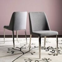 Safavieh Baltic Linen Side Chairs in Grey (Set of 2)