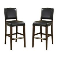 American Heritage Worthington Counter Height Stools in Grey (Set of 2)