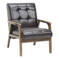 Baxton Studio Togo Chair in Brown