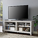 "Forest Gate 58"" Wood Media TV Stand Console in White Wash"