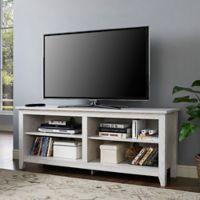 Walker Edison 58-Inch White Wash TV Stand
