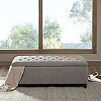Madison Park Shandra Storage Bench in Grey