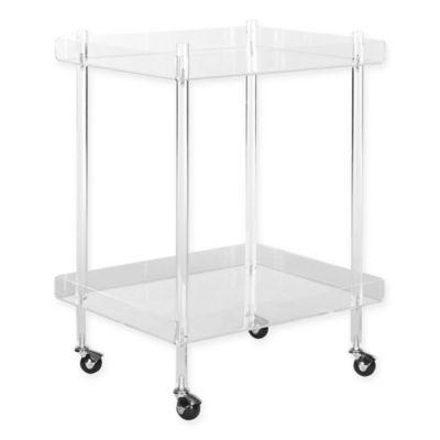 safavieh healy acrylic kitchen cart in clear clear acrylic furniture4 furniture