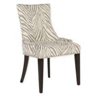 Safavieh Becca Zebra Dining Chair in Grey