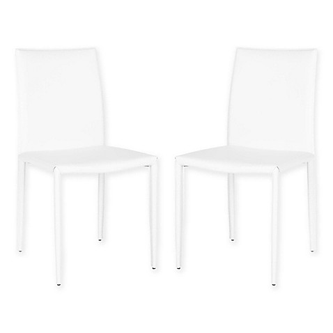Safavieh Karna Dining Chair In White Set Of 2 Bed Bath
