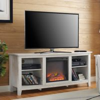 Walker Edison® 58-Inch Fireplace TV Stand in White