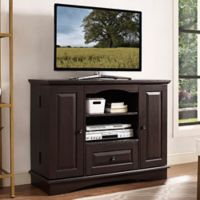 Walker Edison Highboy TV Stand in Espresso