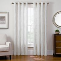 Sharper Image® Cassie 84-Inch Grommet Top Snap-In Window Curtain Panel in White