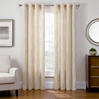 Sharper Image® Cassie 108-Inch Grommet Top Snap-In Window Curtain Panel in Ivory