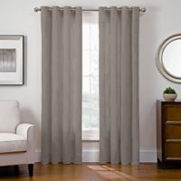Sharper Image® Cassie 95-Inch Grommet Top Snap-In Window Curtain Panel in Grey