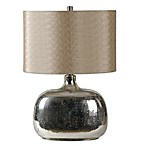 Ren-Wil Barilla 1-Light Table Lamp in Metallic with Linen Shade