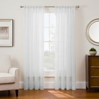 Sharper Image® Sonoma 95-Inch Rod Pocket Snap-In Window Curtain Panel in White