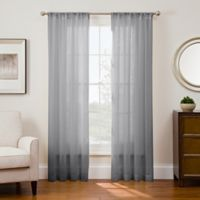 Sharper Image® Sonoma 95-Inch Rod Pocket Snap-In Window Curtain Panel in Grey