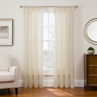 Sharper Image® Sonoma 108-Inch Rod Pocket Snap-In Window Curtain Panel in Ivory