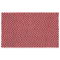 Palazzo II 21-Inch x 34-Inch Bath Rug in Crimson Red/White