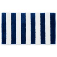 Beach Stripe Bath Rug in Blue/White