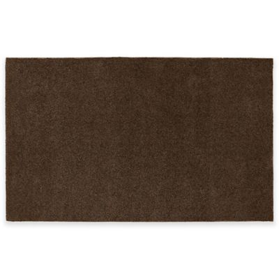Nylon 5 Foot X 8 Foot Bath Rug In Chocolate