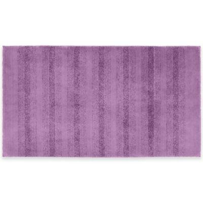 Essance 2 Foot 50 Inch X 4 Foot Bath Rug In Purple