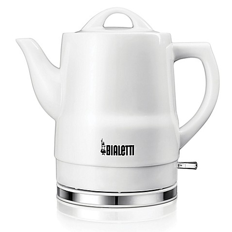 Bialetti 174 Cordless 6 Cup Ceramic Electric Kettle In White