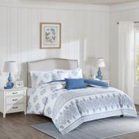 Harbor House™ Sanibel Full/Queen Duvet Cover Set in White/Indigo
