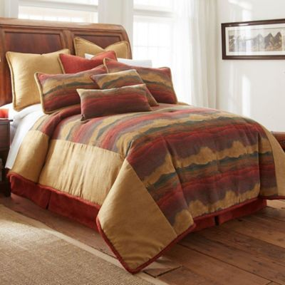 Austin Horn Clics Desert Sunset Queen Comforter Set In Rust Gold