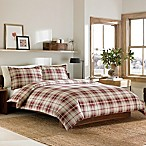Eddie Bauer® Montlake Plaid Flannel King Duvet Cover Set in Red